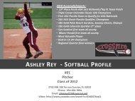 ASHLEY REY - SOFTBALL PROFILE - HomeTeamsONLINE