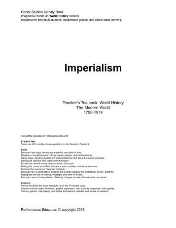"""imperialism 1850 1914 in africa The """"new"""" imperialism 1850 - 1914 the boer war and then british south africa under """"afrikaner"""" control which two countries in africa were not colonized."""