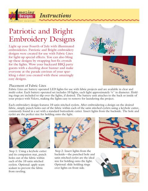 Patriotic and Bright Embroidery Designs - Amazing Designs Blog