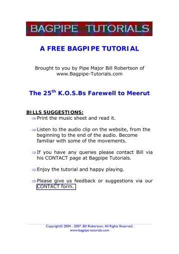 A FREE BAGPIPE TUTORIAL - Bdot-inc.com