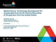 Market Driven Technology Development for Sustainable End-of-Life ...