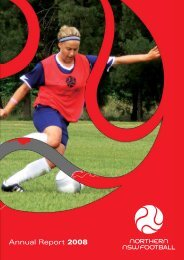 Annual Report 2008 - Northern NSW Football