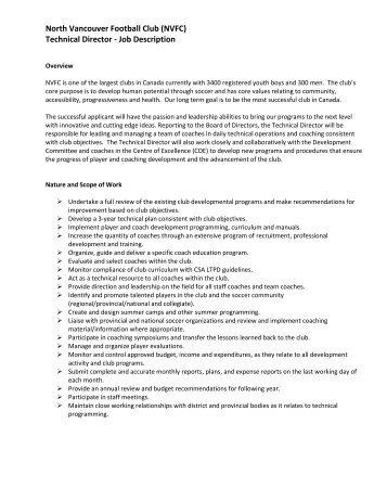Technical Director Job Description. Area Sales Manager Job ...