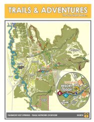 Trail map information (two page PDF) - Fairmont Hot Springs Resort