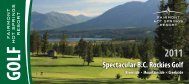 Spectacular BC Rockies Golf Riverside - Fairmont Hot Springs Resort
