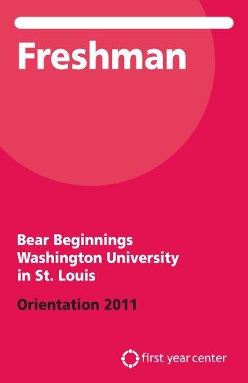 Freshman - First Year Center - Washington University in St. Louis