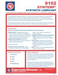 9102 Product Flyer - Categories On Lubrication Engineers, Inc.