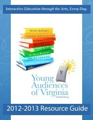 2012-2013 Resource Guide - Young Audiences of Virginia