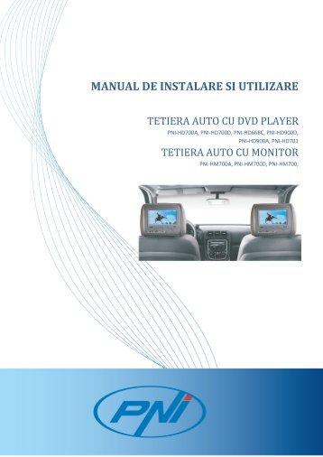 TETIERA AUTO CU DVD PLAYER - manual de utilizare