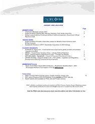 JANUARY 2005 e-BULLETIN Page MEMBER NEWS • Chairman's ...