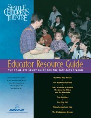 Table of Contents - Seattle Children's Theatre