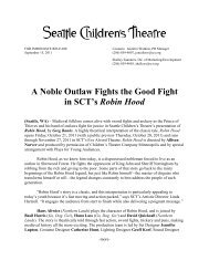 SCT's Robin Hood - Seattle Children's Theatre