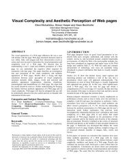 Visual Complexity and Aesthetic Perception of Web ... - Simon Harper