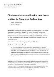 Direitos culturais no Brasil e uma breve análise do Programa ...