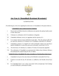 Are You A Chanukkah Resistant Messianic? - Synagogue Chavurat ...