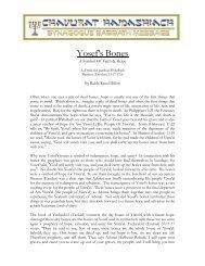 Yosef's Bones - Synagogue Chavurat HaMashiach