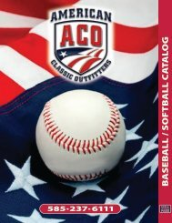 ACO BASEBALL-SOFTBALL CATALOG - American Classic Outfitters