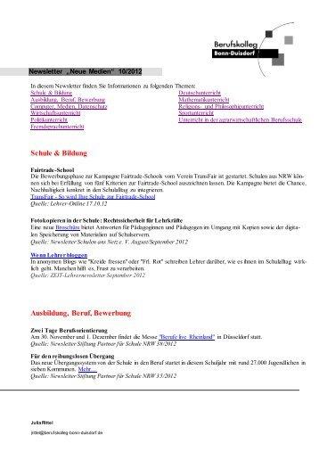 Berufskolleg Bonn Duisdorf 1 2 motivation für den r