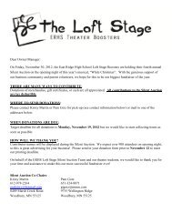 White Christmas Silent Auction business letter - The Loft Stage