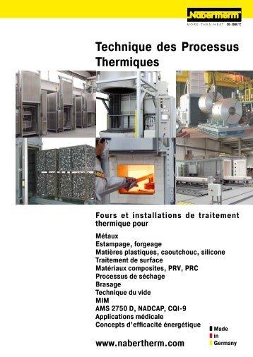 catalogue Technique des Processus Thermiques - Nabertherm