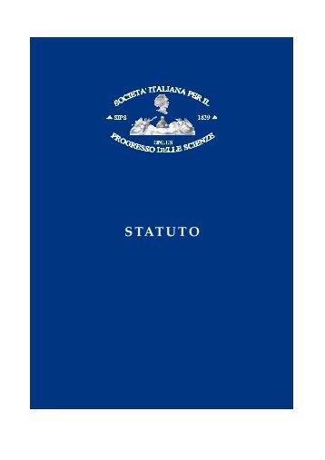 statuto - Società Italiana per il Progresso delle Scienze