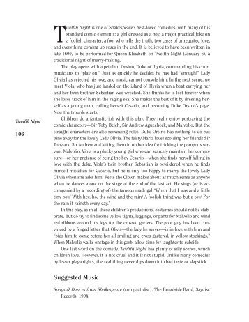 twelfth night critical commentary of Free essay: shakespeare's twelfth night is a play with themes that parallel the  folly of the festival it is named after the main storyline of the plot plays.