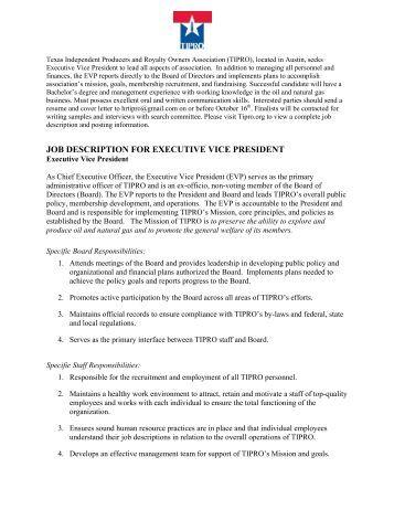 president job description