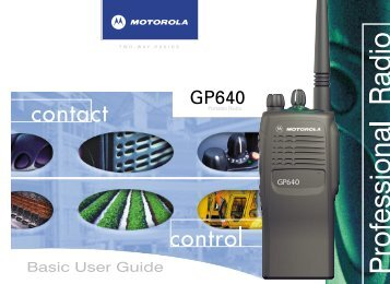 GP640 Basic User Guide - Co-Channel
