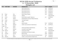 to download WCHA2009 Conference Delegate List