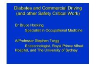 Diabetes and Commercial Driving (and other Safety Critical Work)