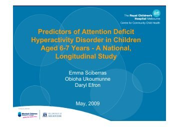 Predictors of Attention Deficit Hyperactivity Disorder in Children ...