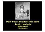 Polio free: surveillance for acute flaccid paralysis - Tour Hosts Pty ...