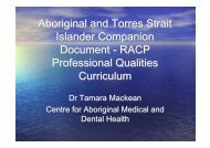 Aboriginal and Torres Strait Islander Companion Document - RACP ...