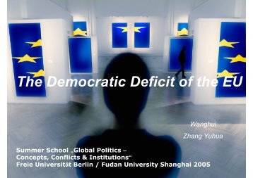 The Democratic Deficit of the EU