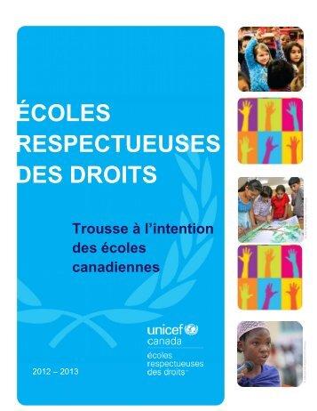 section 1 de notre trousse à l'intention des écoles ... - UNICEF Canada