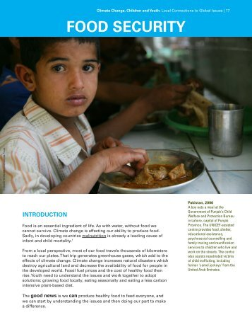 Food Security - UNICEF Canada