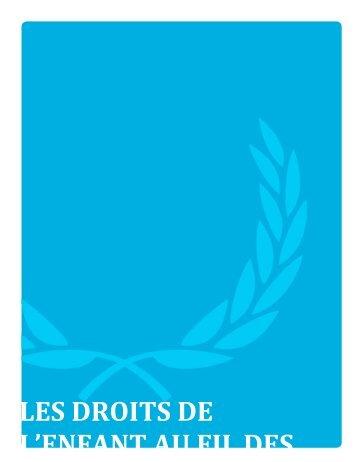LES DROITS DE L'ENFANT AU FIL DES MOIS - UNICEF Canada