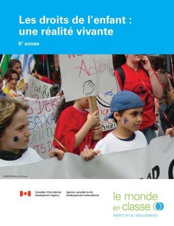 Les droits de l'enfant : une réalité vivante - UNICEF Canada