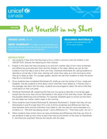 Lesson plan 2 – Give it Up - UNICEF Canada