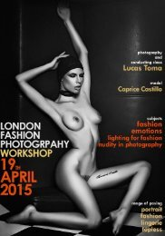 London Fashion Photography Workshop by Lucas Toma 19th April 2015