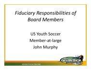 Fiduciary duties - US Youth Soccer