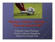 Playing, Practice, Training – How can we do it all? - US Youth Soccer