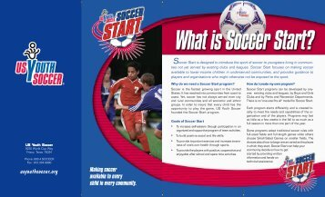 Soccer Start Brochure - US Youth Soccer