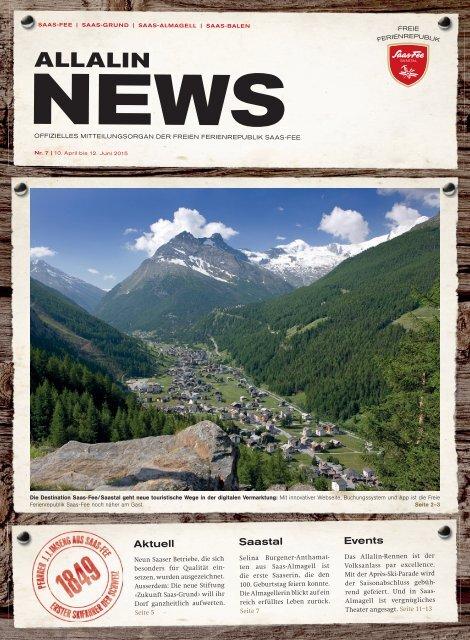 Allalin News Nr. 7 -  SAAS-FEE | SAAS-GRUND | SAAS-ALMAGELL | SAAS-BALEN