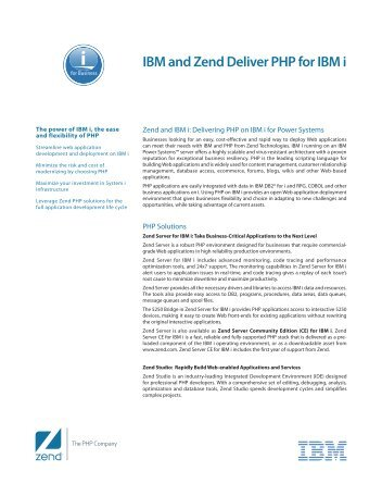 IBM and Zend Deliver PHP for IBM i