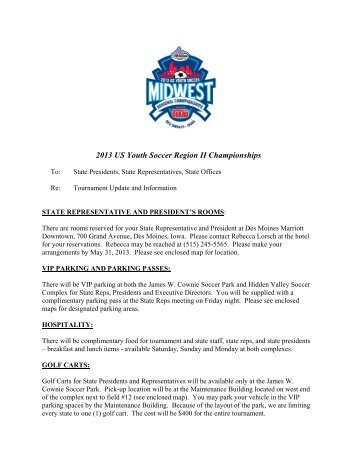informational memo from the loc pdf us youth soccer region ii