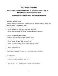 teks ucapan perasmian naib canselor ums - Universiti Malaysia Sabah