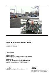Park & Ride und  Bike & Ride - IVT - ETH Zürich