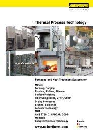 catalogue Thermal Process Technology - Nabertherm GmbH