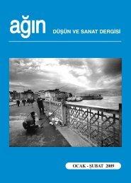 düşün ve sanat dergisi ocak - şubat 2009 - Ankara Ağın Derneği
